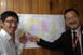 Chief Representative with JICA volunteers who completed their two-year assignment in Bhutan. They were first asked to draw a graph that depicts the transition of their positivity for two years, and the interviews were made based on their positivity transition
