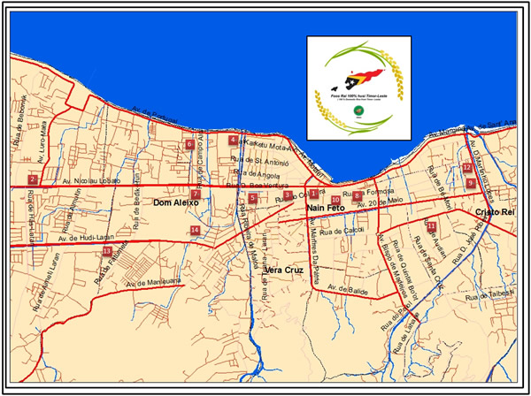 e01cbd05 Map of Restaurants and Hotels in Dili Which Use 100% of Domestic ...
