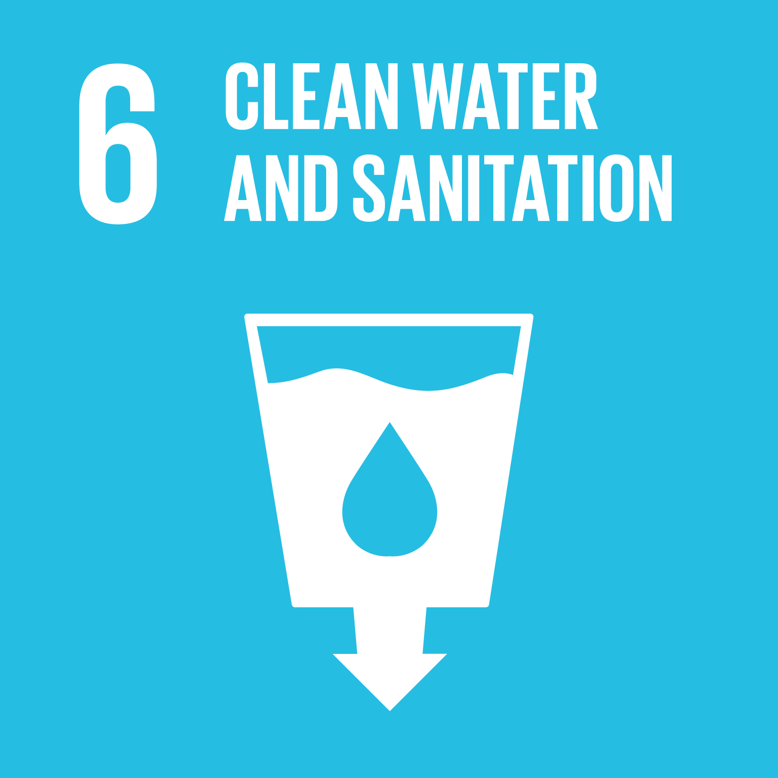 【SDGs logo】CLEAN WATER AND SANITATION