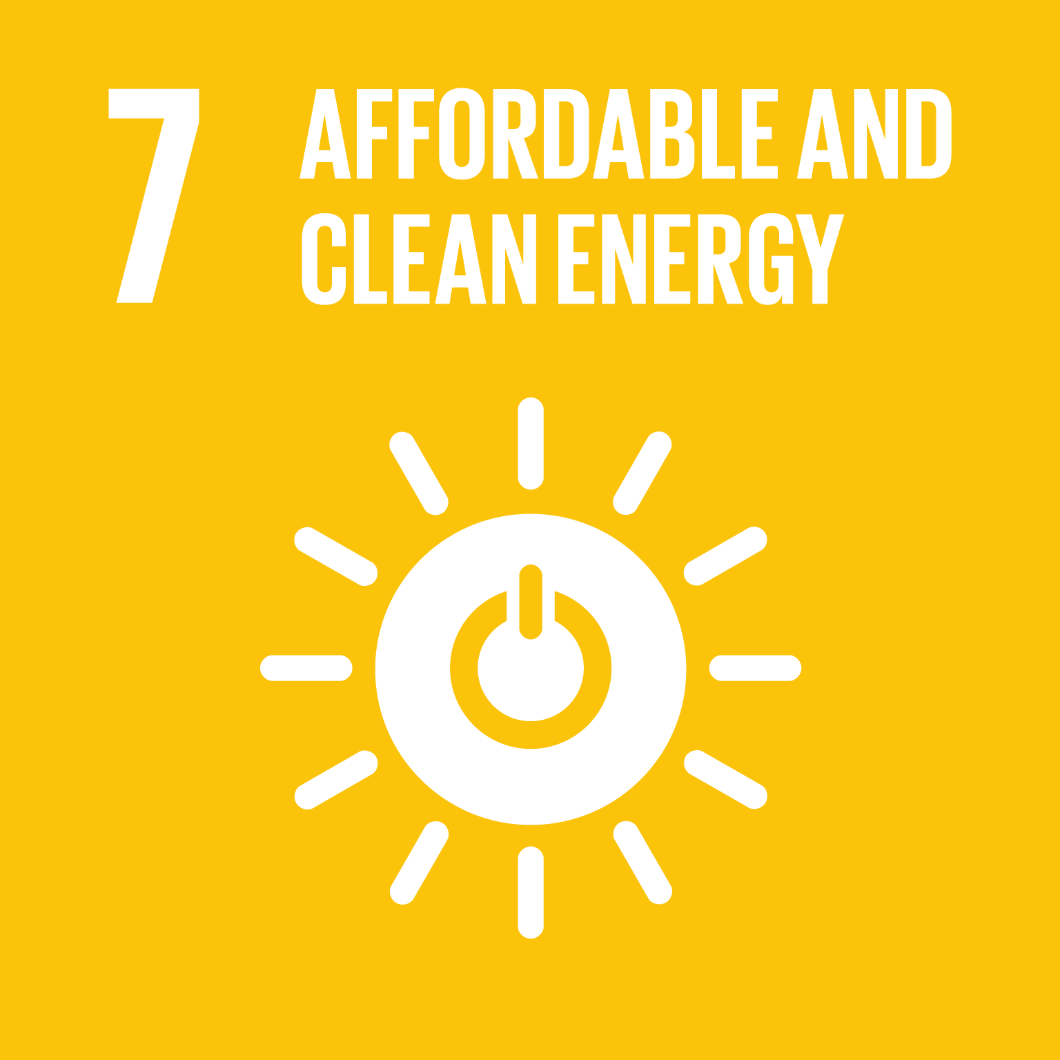 【SDGs logo】AFFORDABLE AND CLEAN ENERGY
