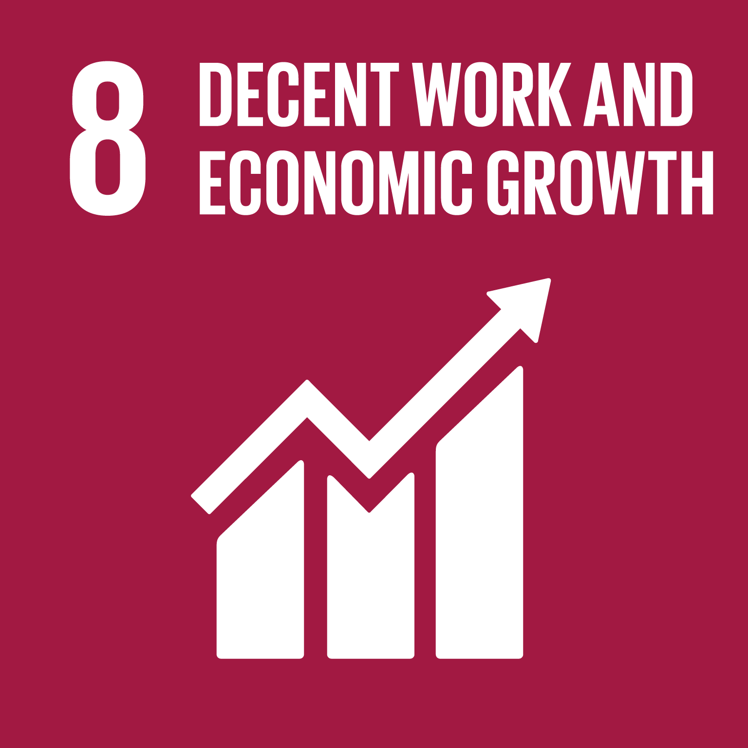 【SDGs logo】DECENT WORK AND ECONOMIC GROWTH