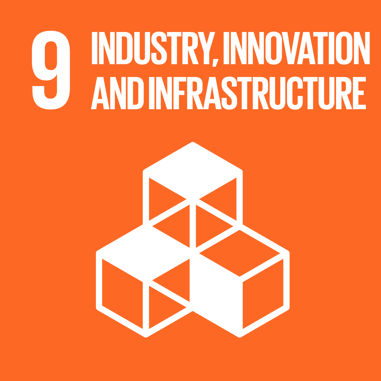 【SDGs logo】INDUSTRY, INNOVATION AND INFRASTRUCTURE