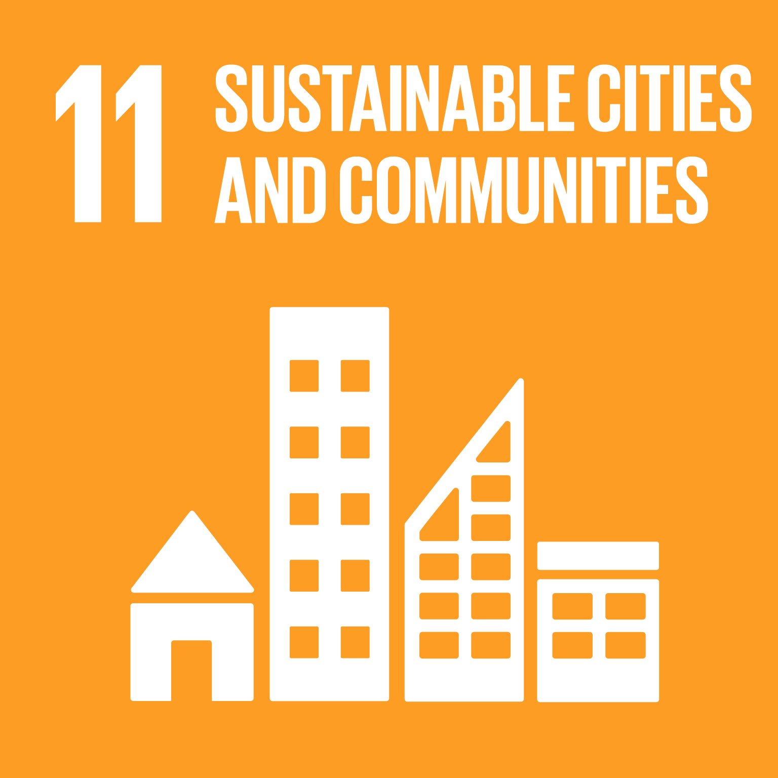 【SDGs logo】SUSTAINABLE CITIES AND COMMUNITIES
