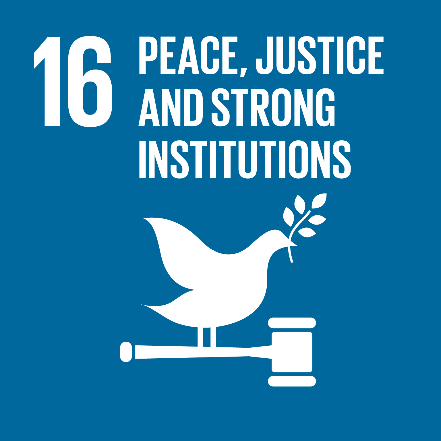 【SDGs logo】PEACE, JUSTICE AND STRONG INSTITUTIONS