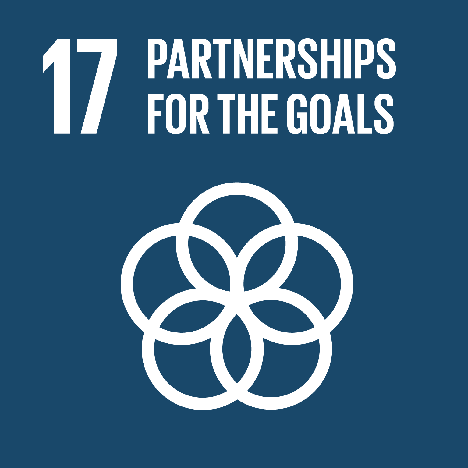 【SDGs logo】PARTNERSHIPS FOR THE GOALS