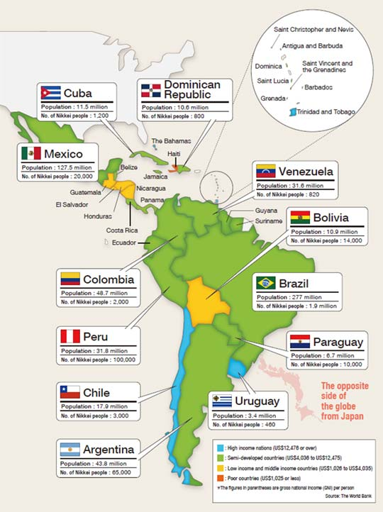 Map Of America And Japan.Viva Latin America Deepening Ties With Japan Vol 1 Japanese