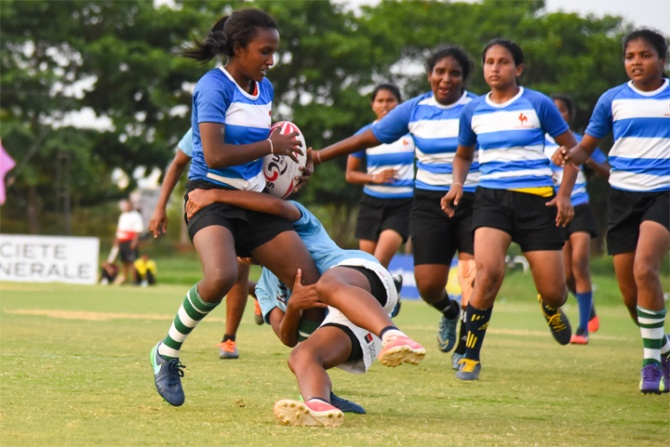 Indian and Sri Lankan Rugby Teams Coached by JOCVs Hold an