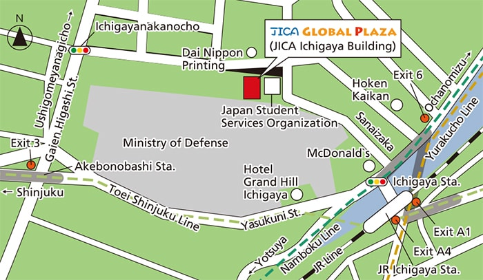 JICA Global Plaza Map
