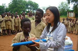 A volunteer in service in Benin