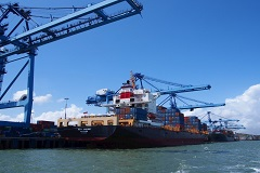 Mombasa Port in Kenya, important port for trade