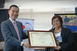 Former Filipina head of Metro Manila flood control receives JICA award&lt;br&gt;<br /> Former leader of the Effective Flood Control Operation System (EFCOS) Maxima Quiambao was named 2016 recipient of JICA Recognition Award for her outstanding contribution in the implementation and sustainability of the EFCOS project since 1989.<br /> Quiambao was the only Filipino and one of three foreigners among 13 awardees to receive the award, which recognizes those &quot;whose work contributes to developing human resources, society, and economy of developing countries.&quot; Her leadership in the EFCOS project was also symbolic of the trust of the Philippine government in Japan's cooperation in disaster management.<br /> EFCOS established the Philippines' first telemetry system to monitor floods and communicate flood alerts. In 2016, Ms Quiambao spearheaded the rehabilitation of typhoon-damaged parts of EFCOS with support from JICA. &quot;We should work together to continue and expand the EFCOS project to benefit the Filipino people,&quot; Quiambao remarked after receiving the award.<br /> Photo shows Quiambao (right) receiving the award from JICA Chief Representative Susumu Ito at an awarding ceremony in the JICA Philippines Office in Makati City and broadcasted simultaneously before JICA officials in the Tokyo office.<br />