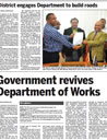 Government revives Department of Works