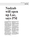 Nadzab will open up Lae